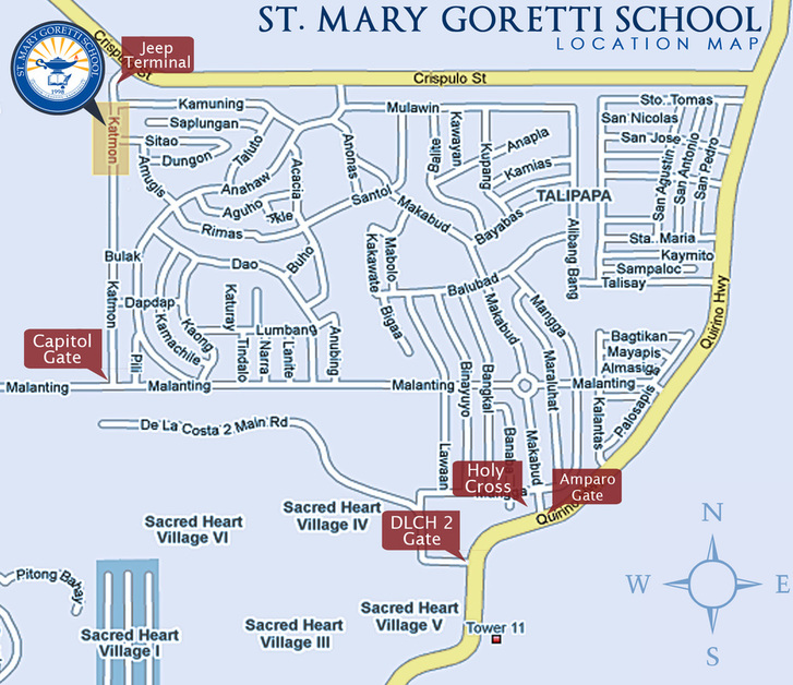 Caloocan Campus Map St Mary Goretti School